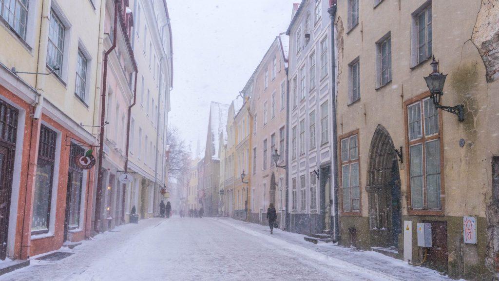 Tallinn-Estland-winter