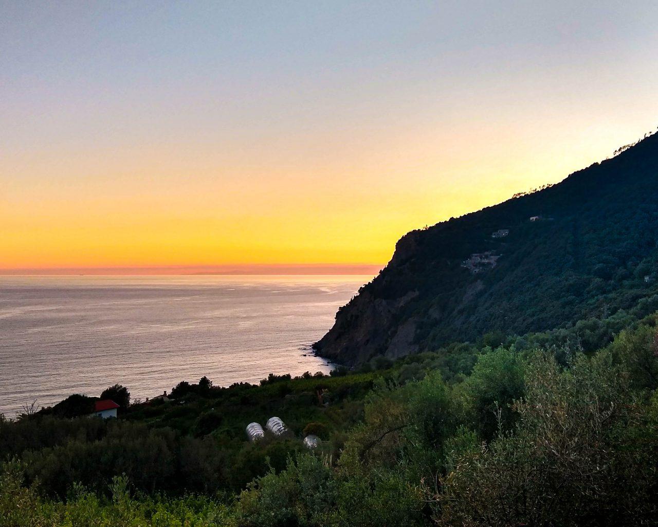 Framura-Italie-zonsondergang