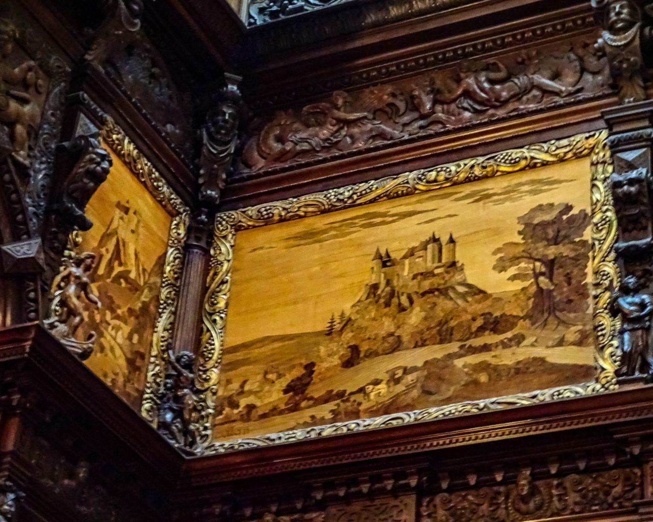 Kasteel-schilderij-in-Peles