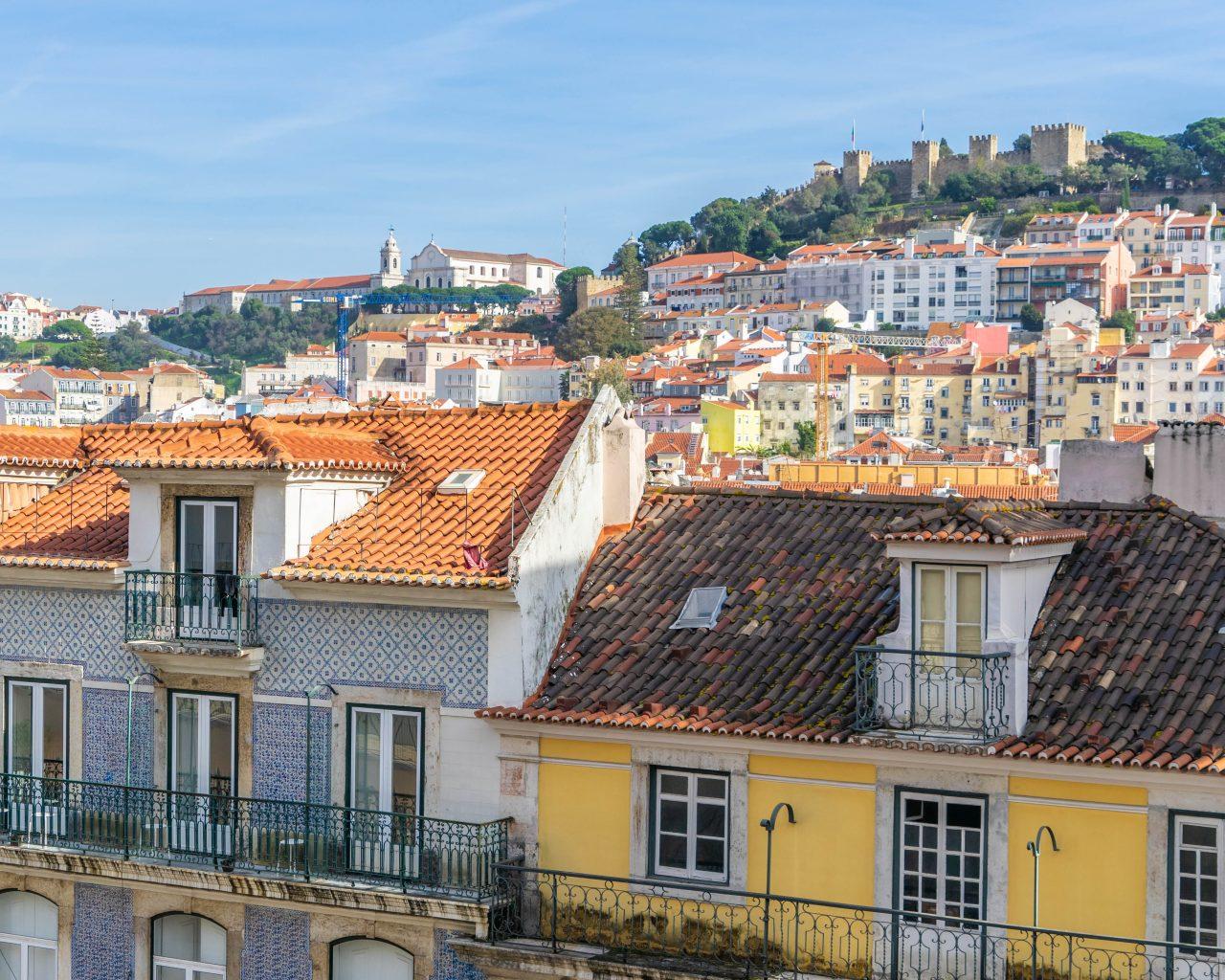 Uitzicht-bij-Santa-Justa-lift-Lissabon
