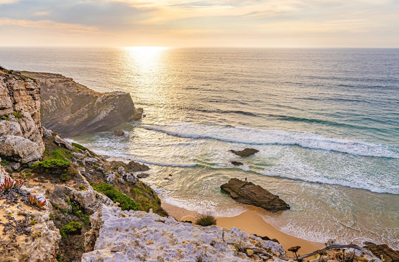 zonsondergang-strand-fisherman's-trail-portugal